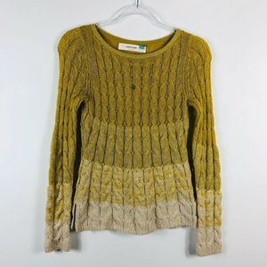 Sparrow Anthropologie Yellow Ombre Sweater
